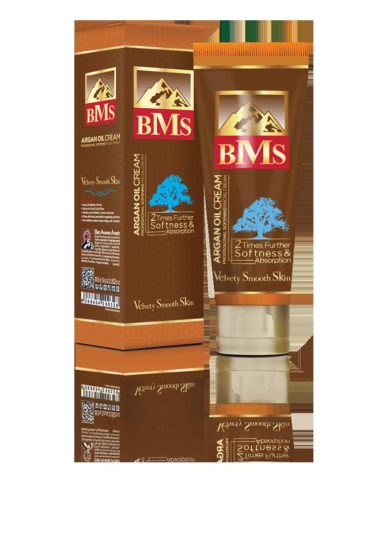 کرم نرم کننده حاوی روغن آرگان تیوب BMS