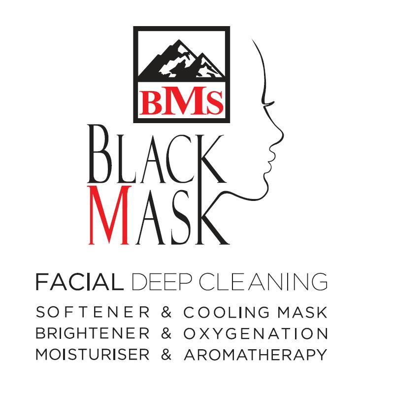 ماسک سیاه صورت با کربن فعال تیوبی BMS