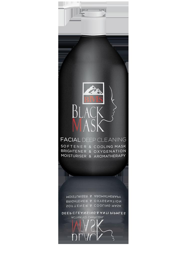 ماسک سیاه صورت با کربن فعال پمپی  BMS